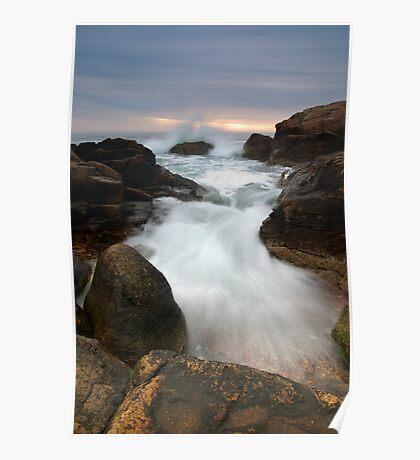 Wave Breaking at Hazard Rocks Poster