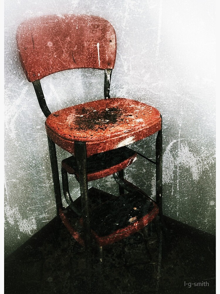 Vintage Step Stool Art Board Print By L G Smith Redbubble