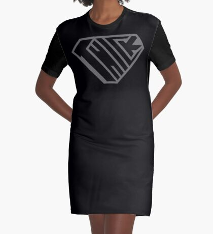 Thick SuperEmpowered (Black on Black) Graphic T-Shirt Dress
