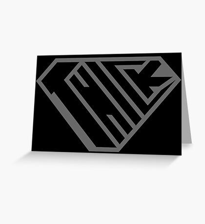 Thick SuperEmpowered (Black on Black) Greeting Card