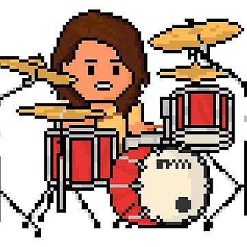 Rock Battle Pixel Grunge Legend Drummer by gkillerb