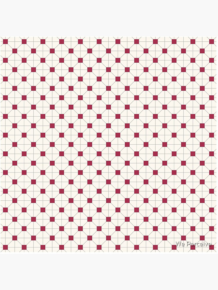 Hong Kong restaurant style - red and white VINTAGE floor tile by CitizenWong