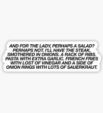 White Chicks Salad ~ Meme Joke Funny Sticker