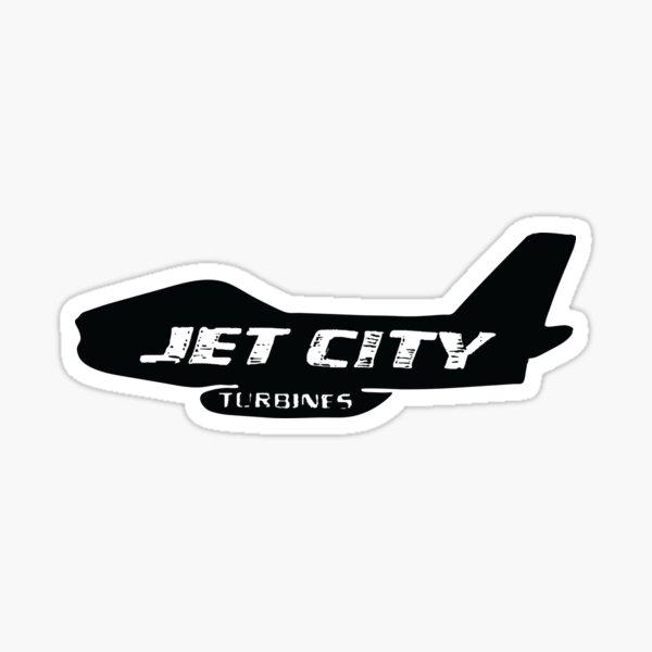 Black Jet City Logo Sticker