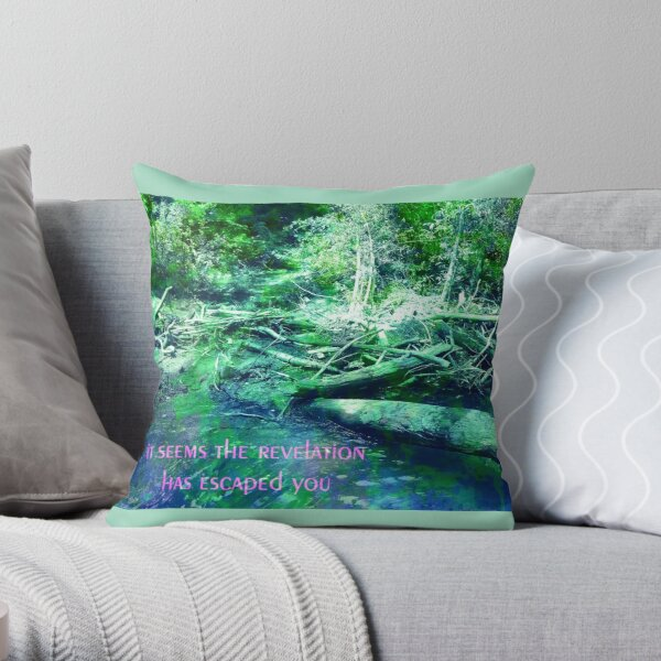 Disappointment - Green, Blue Throw Pillow