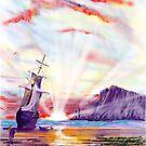 """Whitby Sunrise"" by Glenn  Marshall"