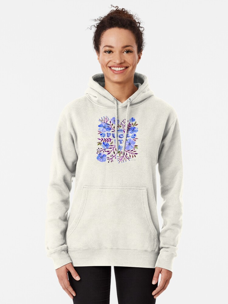 Alternate view of F*ck It – Blueberry Palette Pullover Hoodie