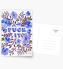 F*ck It – Blueberry Palette Postcards