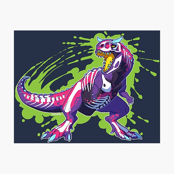 Radioactive Carnotaurus Photographic Print