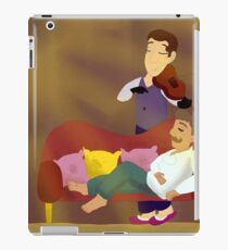 holmes playing violin for watson, without quote iPad Case/Skin