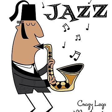Little Known Legends of Jazz - Crazy Legs Moocjheenie by designkitsch