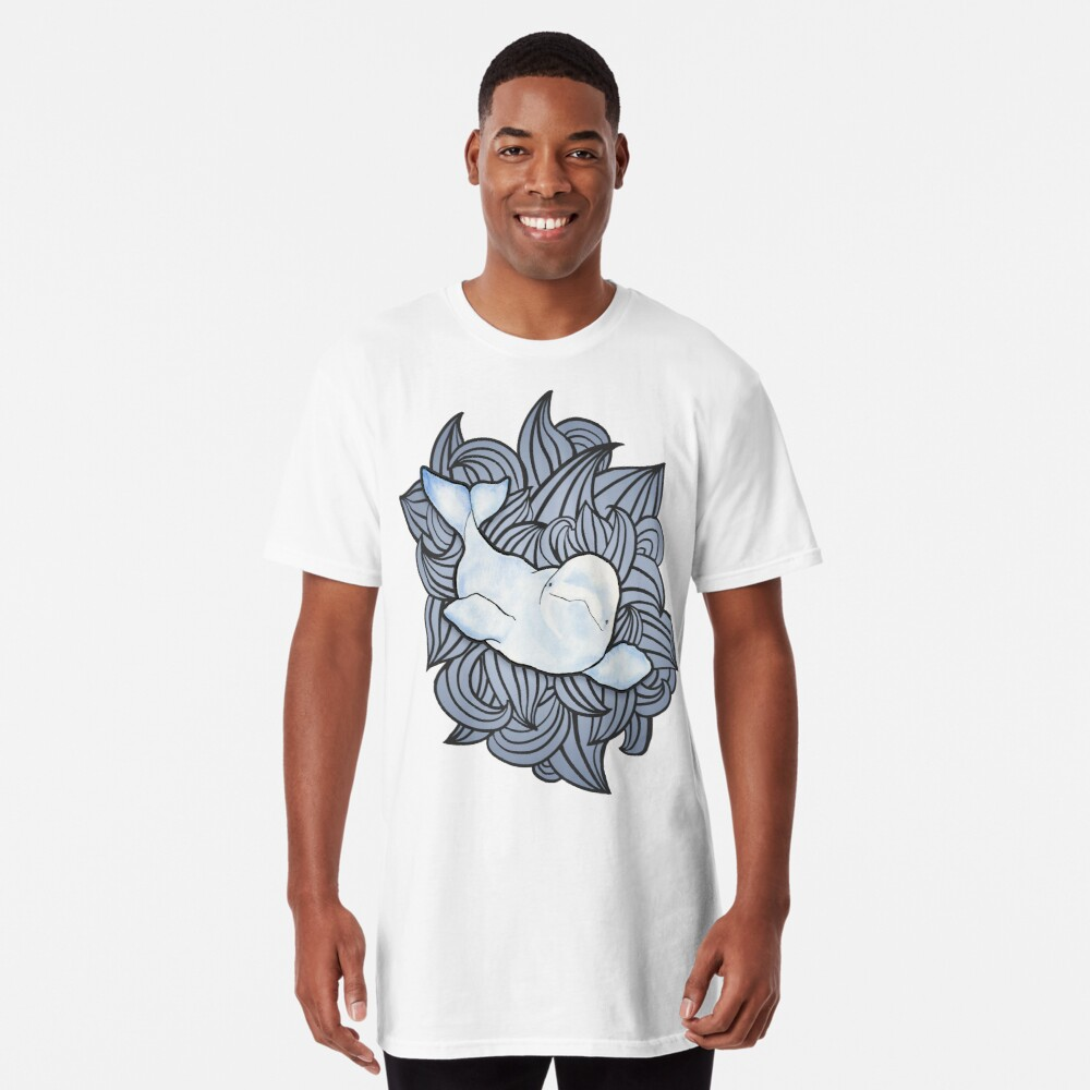 Beluga Wave Long T-Shirt