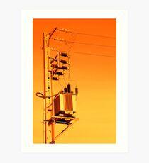 Electricity distribution equipment Art Print