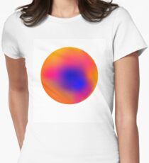 Rainbow Gradient Circle Women's Fitted T-Shirt