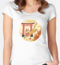 Japan Animals - Fox Women's Fitted Scoop T-Shirt