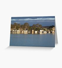 As the sun is setting Greeting Card
