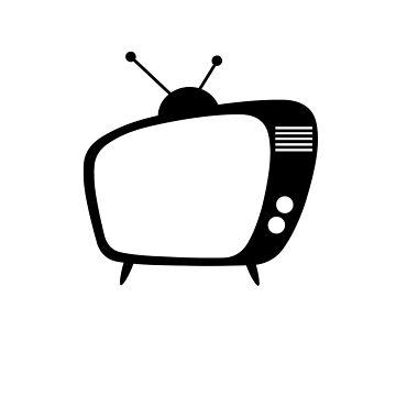 Mid Century Modern Retro TV by designkitsch