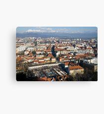 Ljubljana The capital of Slovenia Canvas Print