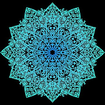 Mandala *green, blue & black* by nadegata