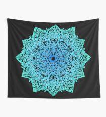 Mandala * vert, bleu et noir * Tenture murale