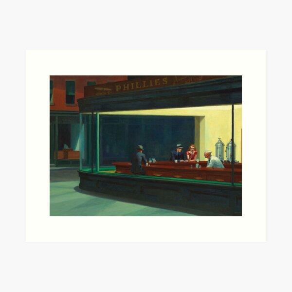 NIGHT HAWKS - EDWARD HOPPER  Art Print