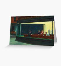 NIGHT HAWKS - EDWARD HOPPER  Greeting Card