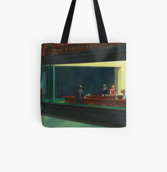 NIGHT HAWKS - EDWARD HOPPER  All Over Print Tote Bag