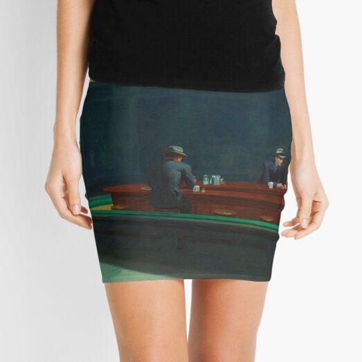 NIGHT HAWKS - EDWARD HOPPER  Mini Skirt