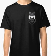 Funny Siberian Husky In Your Pocket Classic T-Shirt
