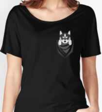 Funny Siberian Husky In Your Pocket Women's Relaxed Fit T-Shirt