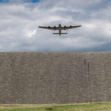Lancaster over the Derwent Dam by garyeason
