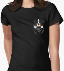 Funny Bernese Mountain Dog In Your Pocket Women's Fitted T-Shirt