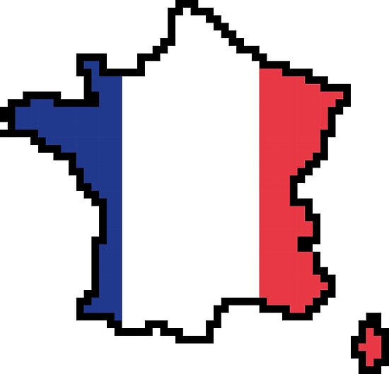France Map Flag.8 Bits France Map Flag Pixel Art Posters By Graphicbazaar Redbubble
