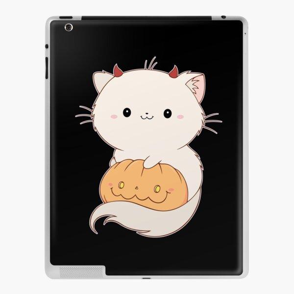 Kitty du diable avec une citrouille d'Halloween Skin adhésive iPad