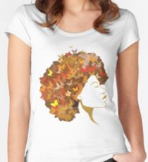 Black Queens Are Born July Women's Fitted Scoop T-Shirt