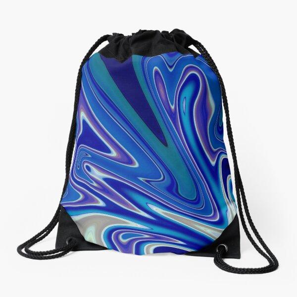 Abstract: A Splash of Blue Drawstring Bag