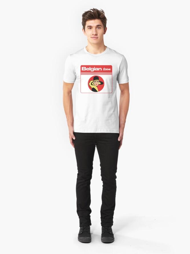 Alternate view of Belgian team  Slim Fit T-Shirt