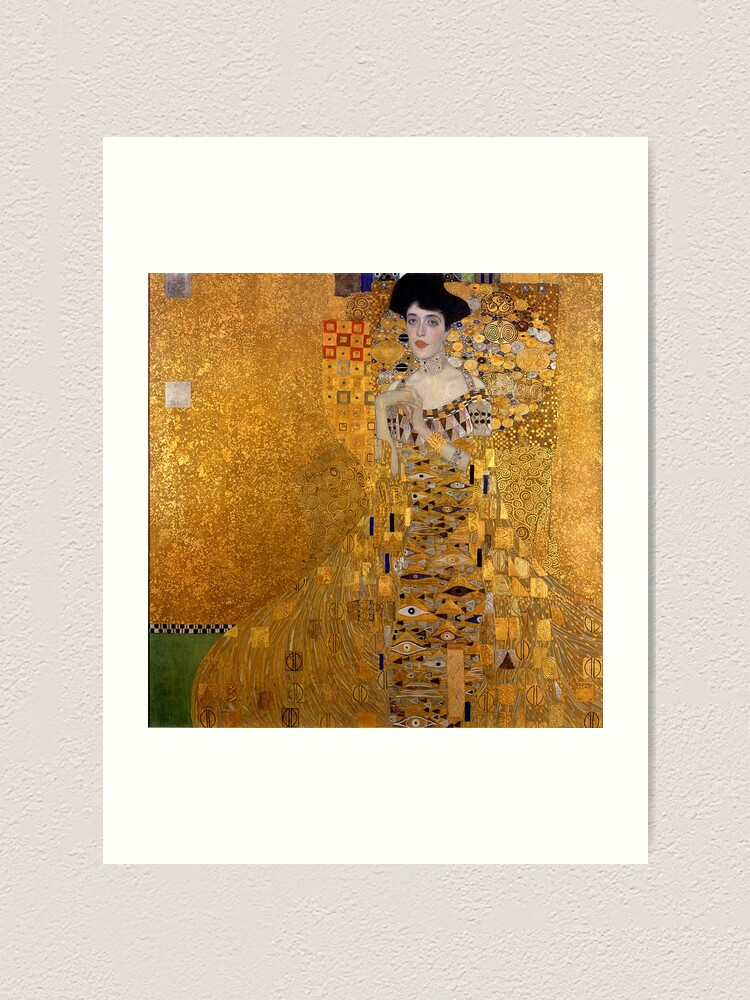 Alternative Ansicht von DIE DAME IN GOLD - GUSTAV KLIMT Kunstdruck