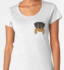 Funny Rottweiler In Your Pocket Women's Premium T-Shirt