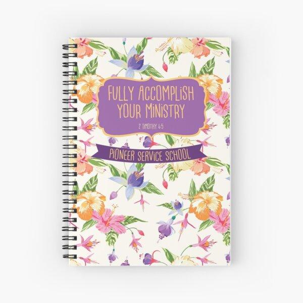 Pioneer Service School 2018 (Design no. 8) Spiral Notebook