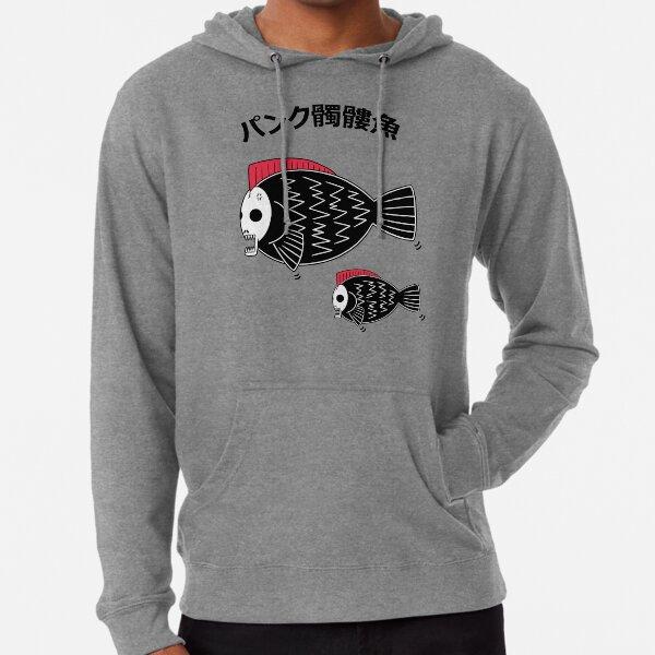 Punk Skull Fish Lightweight Hoodie