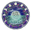 13th Moon Rising - moonlit seascape by SarahOyetunde