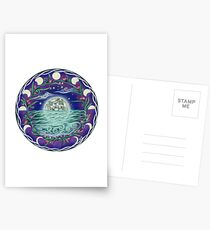 13th Moon Rising - moonlit seascape Postcards