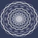 Blue And White Snowflake Mandala 2 by Gypsykiss