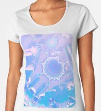 Peacock feather glitch (lilac aqua) Women's Premium T-Shirt