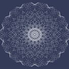 Blue And White Snowflake Mandala 3 by Gypsykiss