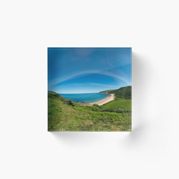 Kinnagoe Bay Panorama Acrylic Block