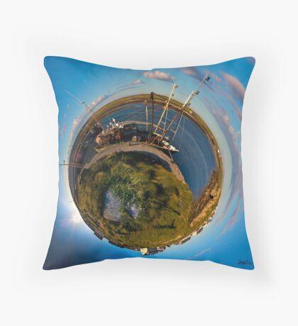 Fishing Boat, Killeany Pier, Inishmore, Aran Islands Floor Pillow