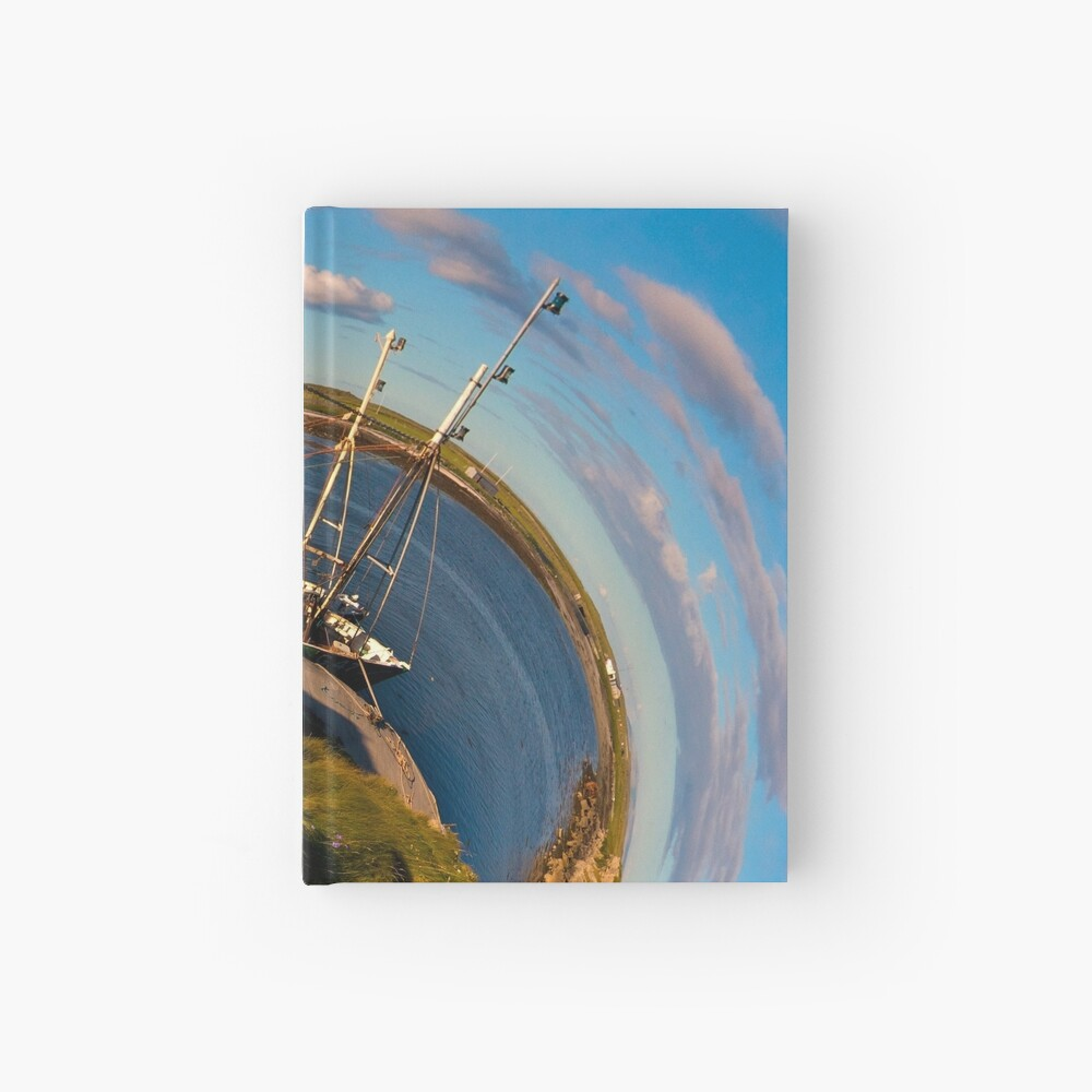 Fishing Boat, Killeany Pier, Inishmore, Aran Islands Hardcover Journal