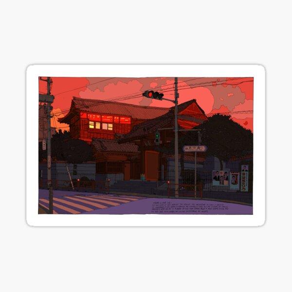Red Temple Nezu Tokyo Sticker